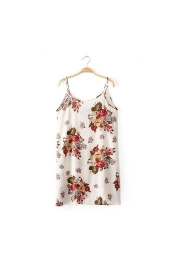 Euro River Island Beach Flora Print Dress