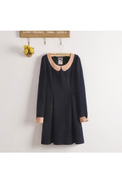 Inspired By LA CHAPELLE Retro High Collar Top Dress Long Sleeve