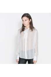 Inspired By ZARA Summer Look In body Casual Long Sleeve Tops Stripes