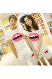 Korean Summer Couple Set Lips