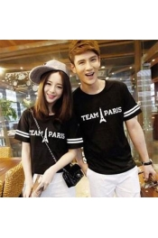 Korean Summer Latest Design Casual Tops Couple Set