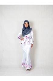 Qella Floral Printed Baju kurung