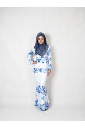 Bellar Floral Printed Baju kurung
