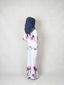 shenal Floral Printed baju Kurung