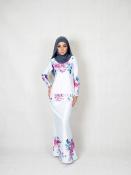 Elvina Floral Printed baju Kurung