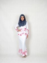 Rosa Rose Floral Printed baju Kurung