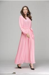 Muslim Party Style Ribbon Casual Jubah Dress