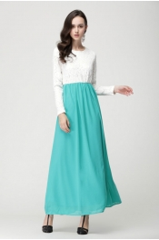Muslim Lace Design 2 Color Limited Casual Dress Dinning