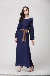 Jubah Dress With Belt Bottom Pleated Design New Style Casual