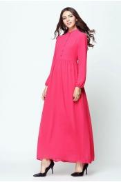 Muslim Jubah Dress Collar Retro Button Design