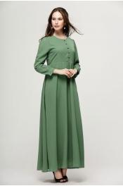 Muslim Jubah Dress Button Design Long Sleeve