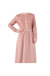 Muslim Lace Jubah Modern Dress