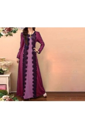 Muslim Lace Pattern Casual Dress Indo Jubah Hijab abaya