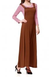 Muslimah Pinafore abaya Strap Jubah Dress
