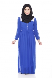 Jasmina Chiffon Lace Jubah Dress