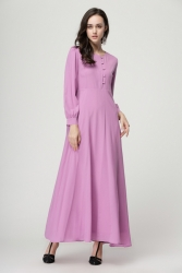 Nursing Jubah Dress With Button