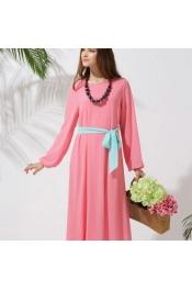 Muslim New Modern Jubah Dress With Belt