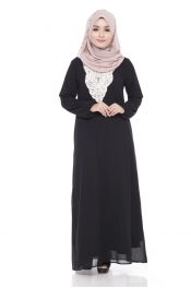 Ashita Embroided Jubah Dress Black