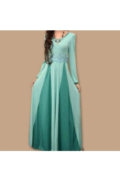 Muslim Jubah New Modern Dress 2 Tone Color