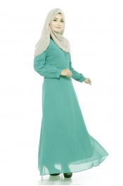 Drs Nursing Button Jubah Dress