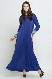 Alqis Flora Lace Jubah Dress Sleeve Lace (Front Zip+Sleeve Zip)
