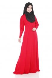 Darina Jubah Dress Emerald Red (Collection)