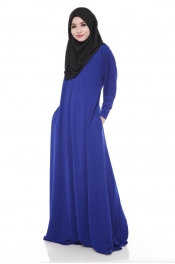 Darina Jubah Dress Sea Blue (Collection)