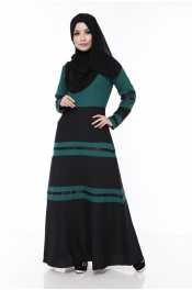 Australia Sdney's Dress Forest Green Jubah (Front Zip)