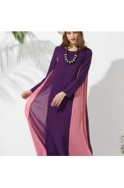 Muslim Jubah 2 Tone Color New Pattern Dress Jubah