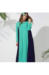 Muslim Jubah Dress 2 tone Design color