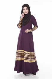 Mikeya's Jet Purple Jubah Dress