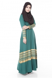 Mikeya's Jet Green Jubah Dress