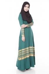 Mikeya's Jet Green Jubah Dress