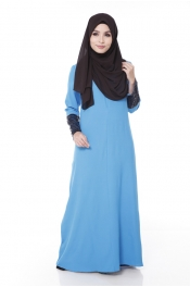 Darita Bling Sea Blue Jubah Dress