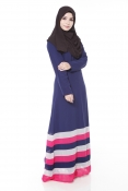 Tangata Dark Blue Jubah Dress