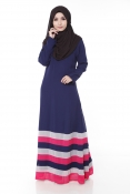 Tangata Dark Blue Jubah Dress