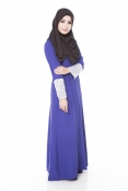 Darita Bling Dark Blue Jubah Dress