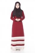 Tangata Maroon Jubah Dress