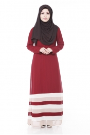 Tangata Maroon Jubah Dress