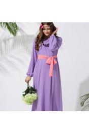 Muslim Jubah Dress 2 tone Design color