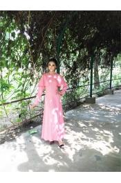 Ania Emerald Rose Pink Jubah Dress