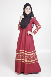 Aikar Gold Curve Jubah Dress