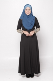 Harisa Diamond Lace Jubah Dress