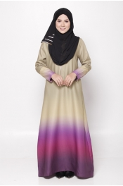 Serina Ombre Zip Blue Dark Blue Jubah Dress