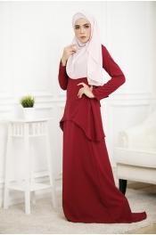 Louisha Plain Fishtail Ribbon Baju Kurung(Modern)
