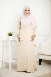 Louisha Plain Fishtail Ribbon Baju Kurung (Modern)