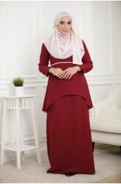 Louisha Pearl Fishtail Ribbon Baju Kurung (Modern)