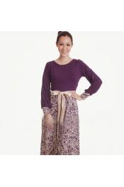 Muslim Jubah Dress Flora Printed