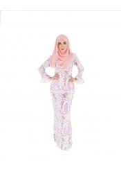 Fusia (Pucci) Baju Kurung (L+XL)FREE SIZE