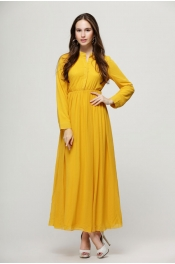 Muslim Modern Pleated Casual Jubah Dress